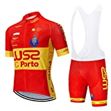 Traje Equipacion Ciclismo Hombre Verano con 5D Acolchado De Gel, Maillot Ciclismo + Pantalon/Culote Bicicleta para MTB Ciclista Bici