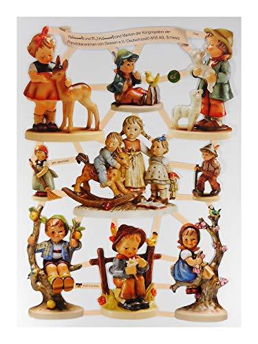 Glanzbilder EF 7504 Hummel Figur REH Schaukel Posiebilder Scrapbook Deko GWI 600