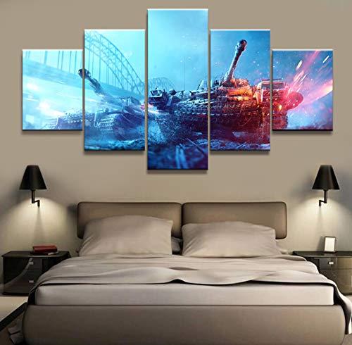 mmwin HD Impreso 5 Escenario 5 Piezas Canvas Art Print Room Decor Print Poster Picture Canvas