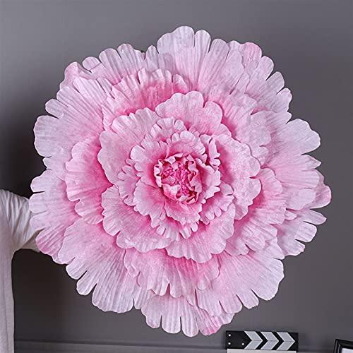 Flor Preservada 40 cm / 50cm / 60 cm / 70 cm / 80cm Seda Grande Flor Artificial Cabeza de Rosa para Fondo de Boda decoración de Pared 5 Colores Flor Flor Artificial (Color : Pink, Size : 60cm)