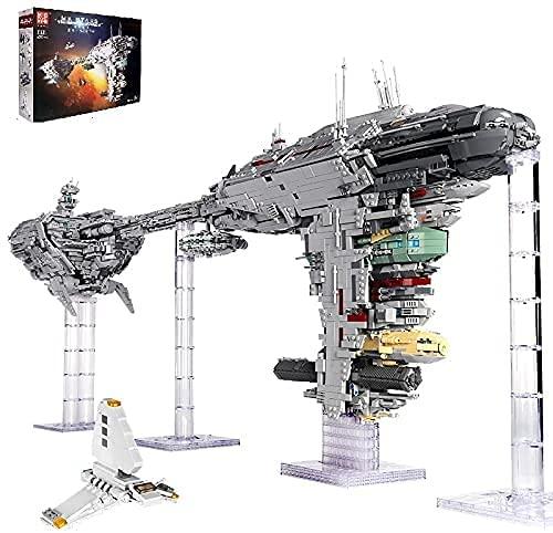 BAXT Tecnica, set da costruzione, Mould King 21001, 6388 mattoncini grandi Nebula Fregatte per cantiere, tecnologia UCS Star Destroyer compatibile con Lego Star Wars 77904