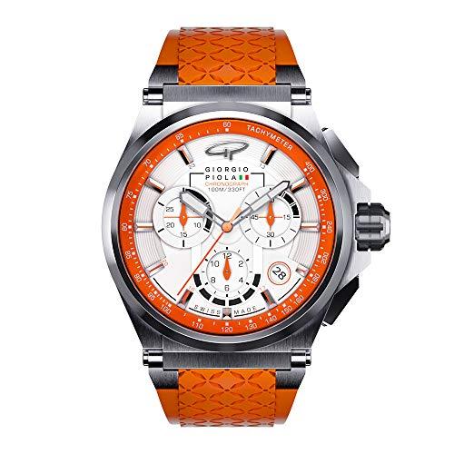 Giorgio Piola LadiesStrat-3 Orange Chronograph Watch (Polished Bezel Finishing)