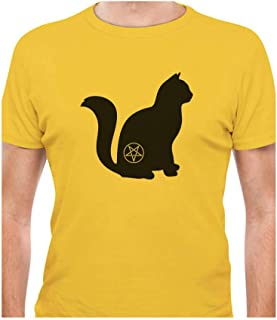 Tstars - Halloween Cat Pentagram Cat Lover Gift T-Shirt