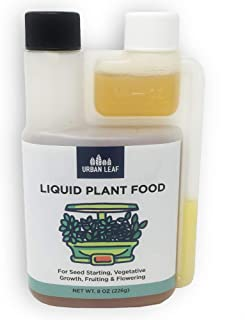 Liquid Plant Food - Hydroponic Nutrients Concentrate - Liquid Plant Fertilizer Suitable Replacement for AeroGarden, Miracle Grow, Fox Farm - Easy-Measure Bottle (8 oz)