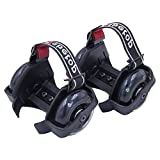 Webetop Kids Lighted Heel Skate Rollers Adjustable Two Wheels Skate Shoes Scooters,One Size Fits Most,60KG Weight Limited,with Portable Bag and Mini Wrench for Adjusting Size,Black