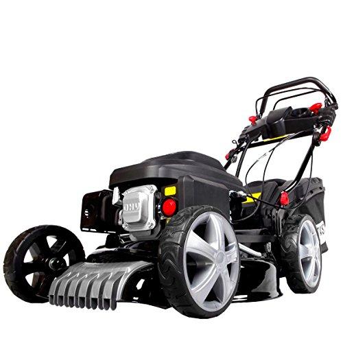 BRAST Benzin-Rasenmäher 4,4kW (6PS) Elektrostart variabler Radantrieb 51cm Schnittbreite 60L Fangkorb GT Getriebe 4-Takt Motor TÜV