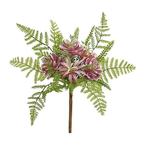 Generic Flor Suculenta Artificial Floral Plástico Planta Falsa Follaje Decoración del Jardín del Hogar