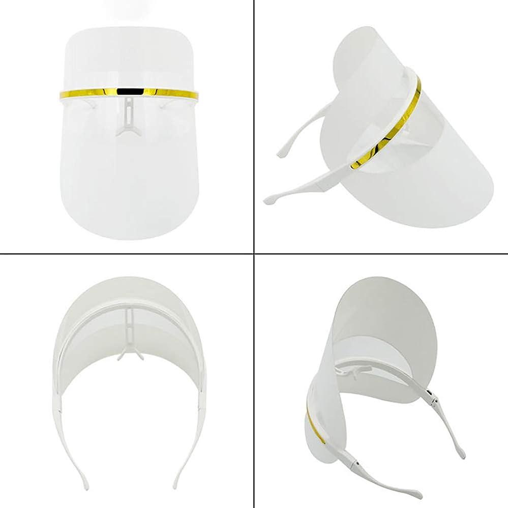 参照虎ボーダー7色LEDフェイスマスク、LEDフォトンビューティーマスク、健康的な肌の若返りのためのフォトンレッドライトセラピー、コラーゲン、アンチエイジング、しわ、瘢痕