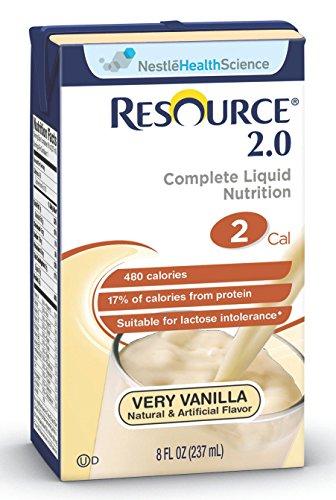 Resource 2.0 Delicious Complete Very Vanilla Flavor 8 oz. Brik Pak