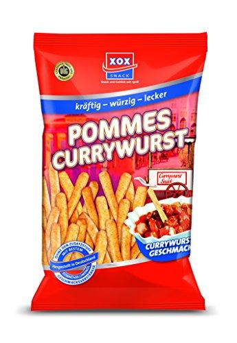 XOX Pommes Snack Currywurst, 10er Pack (10 x 125 g)
