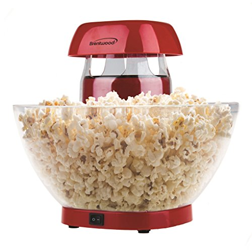 Lowest Prices! Brentwood PC-490R Jumbo Hot Air Popcorn Maker, 24-Cup, Red