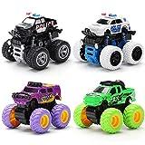 Kinderspielzeug Junge Spielzeugauto Trägheit Allradantrieb Geländewagen Modellauto Anti-Fall Spielzeugauto Babyauto-Große Trägheit Geländewagen Set