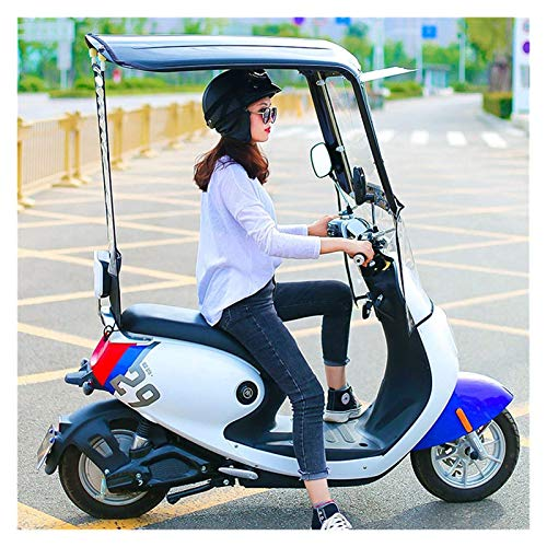 Scooter Battery Car Universal Electric Motorcycle Sunshade Cover,Mobility Scooter Rain Waterproof Cover,Battery Car Canopy Umbrella Cover,Waterproof Sun Visor Ully Enclosed Transparent Curtain Black