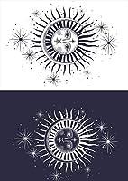 igsticker ポスター ウォールステッカー シール式ステッカー 飾り 728×1030㎜ B1 写真 フォト 壁 インテリア おしゃれ 剥がせる wall sticker poster 016046 太陽 月 宇宙
