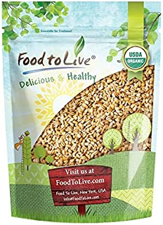 Organic Pearl Barley, 1 Pound - Hulled, Non-GMO, Kosher, Raw, Sproutable, Vegan