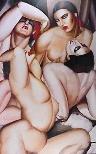 Germanposters Tamara De Lempicka Group de Quarter Nus Poster Kunstdruck Bild 139x85cm