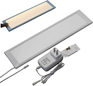 LED Under Cabinet Lighting, LED Under Counter/Shelf/Cupboard Light,Dimmable & linkable, 12 inch Long 8mm Slim, with Touch Dimming Sensor and Adapter Single Kit