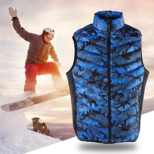 Read About Heated Vest,6XL Men USB Powered Heating Vest Winter Warm Keeping Cotton Smart Heated Slee...