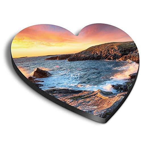 Destination Vinyl ltd Imanes de corazón MDF – Buaile Fainis Cove Isla de Lewis para oficina, armario y pizarra blanca, pegatinas magnéticas 44481