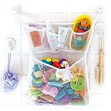 CXHM Bad Aufgeräumte Aufbewahrung, Baby Badezimmer Mesh Tasche, Badespielzeug Tasche, Kinder Spielzeug Aufbewahrung Mesh(Four Grid mesh Bag)