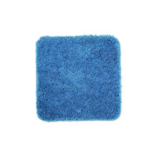 WohnDirect Alfombrilla de baño – Alfombra baño – Antideslizante – Alfombra para el Cuarto de baño – Lavable – Alfombrilla para el Inodoro – Azul Claro - 45 x 45 cm