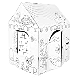"Easy Playhouse Spring Cottage - Kids Art & Craft for Indoor Fun, Color, Draw, Doodle on a Festive Easter House - Decorate & Personalize a Cardboard Fort, 32"" X 26.5"" X 40.5"" - Made in USA, Age 2+"