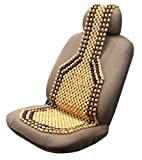 Unique Imports Two Tone Royal Wooden Bead Seat Cover Massage Comfort Cushion - Natural Wood Mahogany Stripe - Great for Home Office or Vehicle