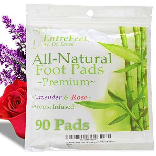 Dr. Entre's Foot Pads: Organic All Natural Formula for Impurity Removal, Pain Relief, Sleep Aid, Relaxation   Aroma Infused 90 Pack