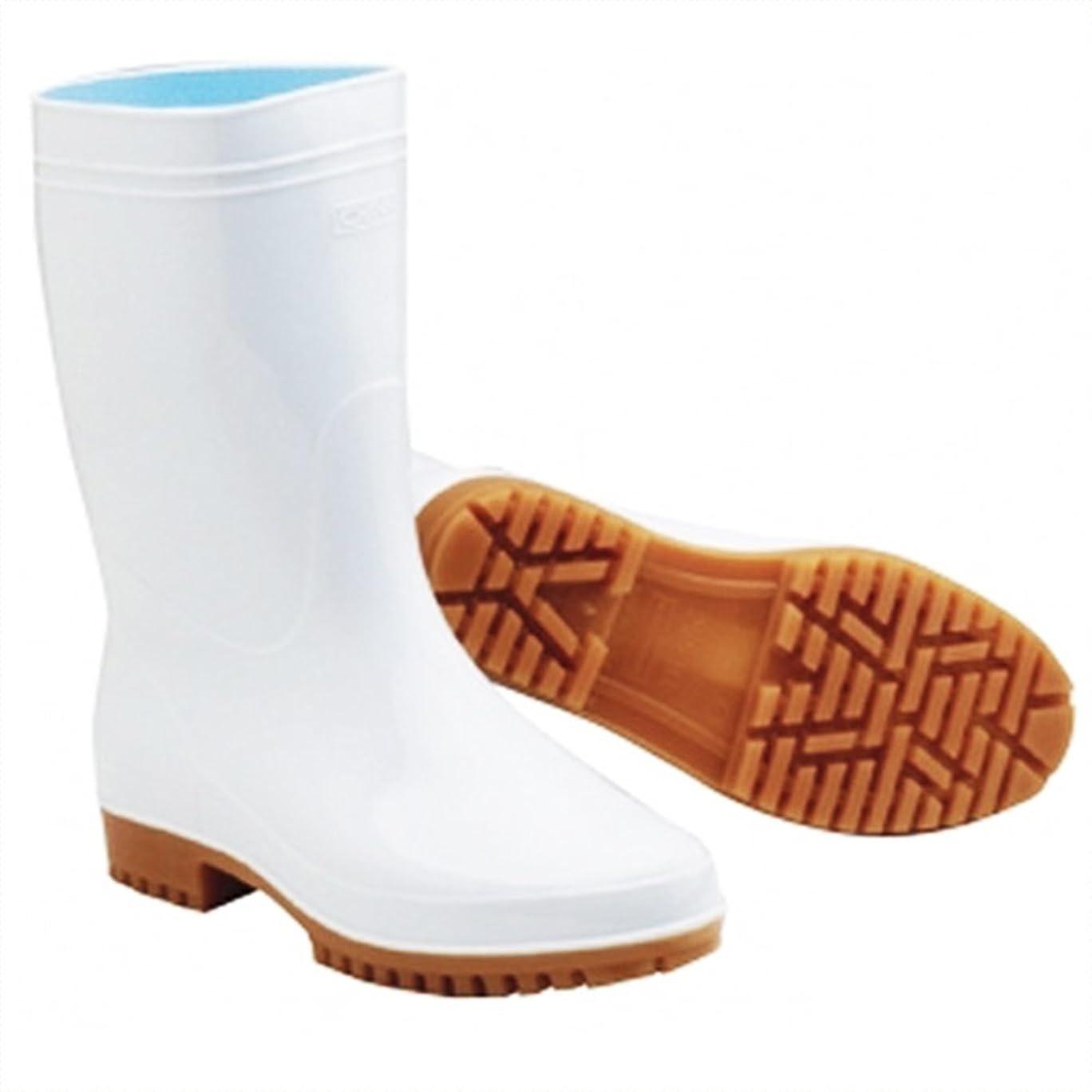 無知トン半導体ゾナ G5 長靴 24cm 白 (ZONA-G5-240-WH)