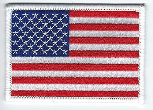 Best usa flag embroidered cloth sew on iron on patch for jerseys for 2020