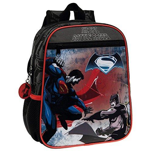 Warner 4632151 Batman Vs Superman Zainetto per Bambini, Poliestere, Nero, 28 cm