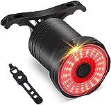 Linkax Luce Posteriore per Bicicletta,LED Luci per Bici con Sensore di Frenata,USB Ricaricabile Fanale Posteriore di sicurezza per ciclismo con 5 modalità Fisse Flash