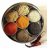 EliteKoopers Tandoori Masala Dabba - Caja de almacenamiento para especias (7 especias)