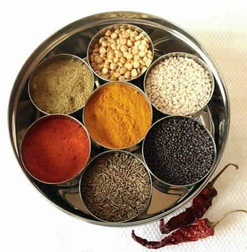 HoitoDeals indische Gewürzbox aus Edelstahl, für Tandoori Masala Dabba Gewürze
