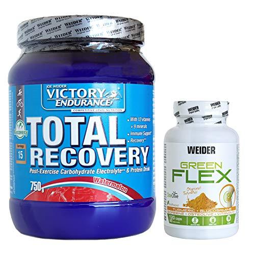 Pack Total Recovery de sandia 750g + Green Flex. Recuperación muscular completa.