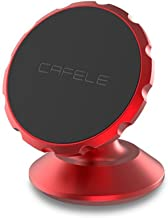 Cafele Universal Phone Car Holder 360-Degree Phone Stand Magnetic for Dashboard or Air Vent (Red for Paste)