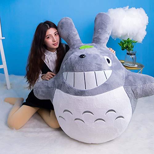 ZZYYLL Mi Vecino Totoro Peluche Muñeco de Peluche Animal de Juguete Cojín Decorativo Día de Fiesta Cumpleaños Cumpleaños Novia Regalo Gris Totoro Bolsas de Frijoles Suaves,A,80CM