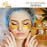 Under Eye Mask 24K Gold Treatment For Puffy, Dark Circles, Bags, Anti-Wrinkle Collagen Patches Pads, 15 PAIRS