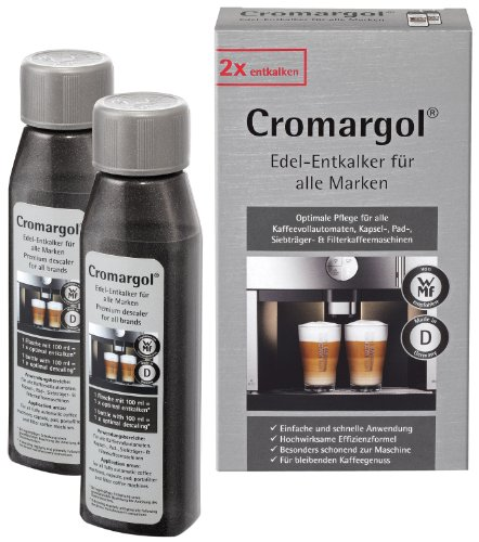 WMF Entkalker Cromargol Edel-Entkalker Kalk-Reiniger 2er-Pack für Kaffeemaschine, Kaffeevollautomat, Kapselmaschine, Padmaschine, Siebträgermaschine & 2x100 ml Kalklöser
