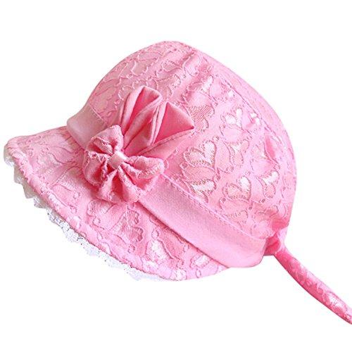 Colorful(TM Baby Mütze Kindermütze Kids Kappe Baby Mädchen Sommer Hut,Anzug für 0-6 Monate Baby (Hot pink)