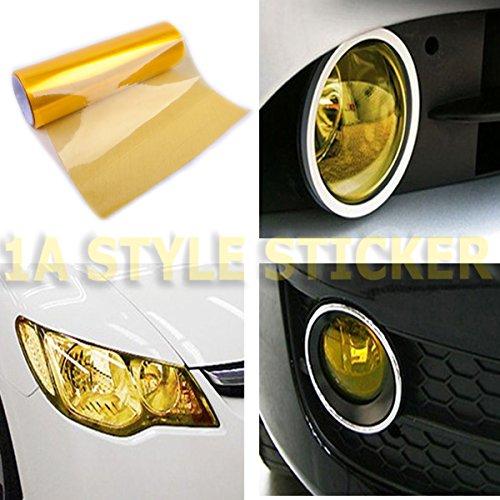 Scheinwerfer-Folie GELB 200cm x 30cm NEW Folie Gelbe Nebler Auto Scheinwerfer Folierung yellow vinyl google