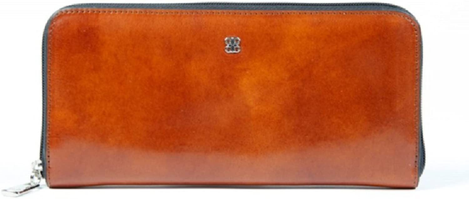 Bosca Old Leather Zip Around Wallet (One Size, Amber)