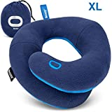 BCOZZY Extra Large Travel Pillow, Patented Neck & Chin Support for Comfortable Sleep