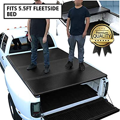 DNA Motoring TTC-HARD-015 Truck Bed Top Hard Solid Tri-Fold Tonneau Cover