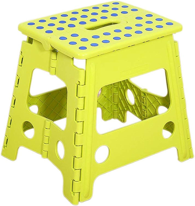 CJX-Step Stools Rutschfester Hocker, verschleifester Hocker Einfach zu reinigen Hocker Klapphocker Schlafzimmer Hocker Student Hocker Kinderhocker Badhocker (Farbe   Grün, gre   34  27  32CM)