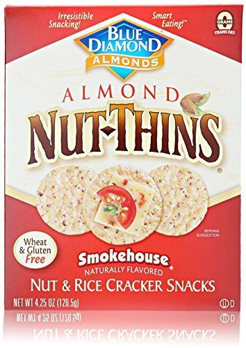 Blue Diamond Luxury goods Nut Thins Smokehouse Ranking TOP15 4.25 Ounce Pack of Boxes 12