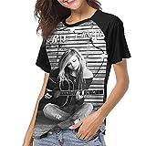 AV-Ril La-Vigne Classic Ladies Baseball tee Fashion Round Neck Short Sleeved T-Shirt Womens Cycling Tunics