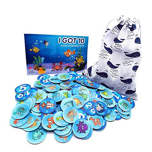 I Got See 10 Addition and Subtraction Basic Math Game Friends Number First Grade Training(130 Cards)