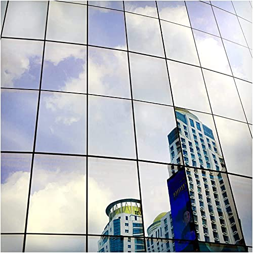BDF S05 Heat Control Daytime Privacy One Way Mirror Window Film Silver 5 (60in X 100ft)