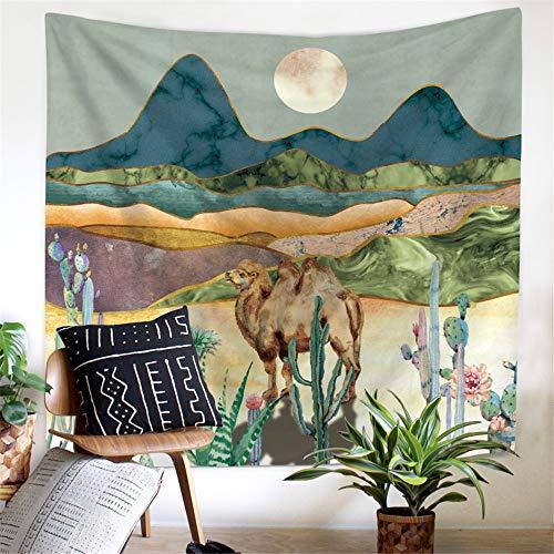 Muur woondecoratie kunst abstract olieverfschilderij tapijt deken Nordic Pink Mountain Tapestry Decor muur opknoping abstracte Hippie Boho vrouwen muur tapijt doek psychedelische tapijt